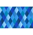 Blue Diamond Polygon Background vector image vector image
