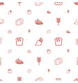 bread icons pattern seamless white background vector image vector image