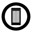 building icon black color in circle vector image vector image