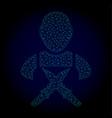 butchery worker polygonal frame mesh vector image vector image