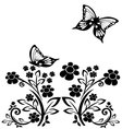 butterflies and flowers 15 vector image vector image