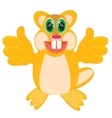 Cartoon animal beaver vector image vector image