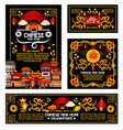 chinese lunar new year greeting banner vector image vector image
