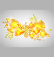 colorful abstract drops in yellow vector image