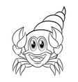 crab coloring book vector image vector image