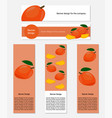 design of banners with yummy mango vector image vector image
