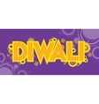 Diwali colourful card decorative background vector image vector image