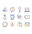double latte security and call center icons set vector image vector image