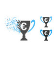 dust pixelated halftone euro cup icon vector image vector image
