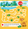 educational task for children learn and play maze vector image vector image