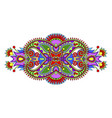 ethnic floral paisley pattern ornamental design vector image