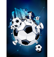 Funky football background vector image vector image