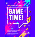 game time player poster colorful gaming flyer vector image