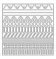 grayscale pattern with geometric figures vector image vector image