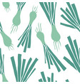 green leek seamless pattern vector image