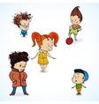 group children vector image vector image