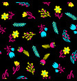 hand drawn pattern with summer flowers and herbs vector image vector image