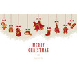 hanging christmas elements vector image