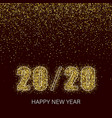 happy new year shining background with gold and vector image vector image