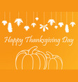 happy thanksgiving day celebrations background vector image