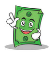 have an idea dollar character cartoon style vector image