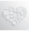 heart with squares vector image