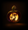 jack-o-lantern dark spooky cat vector image vector image