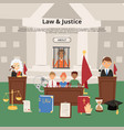 judge justice law court and legal judgment vector image vector image