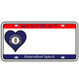kentucky state license plate vector image vector image