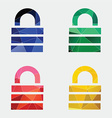 lock icon Abstract Triangle vector image