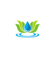 lotus flower ecology water logo vector image