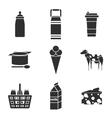 Milk icons set vector image vector image