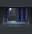 mockup empty room interior in night vector image vector image