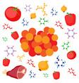 molecular gastronomy concept vector image vector image