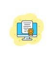 online certification vector image vector image