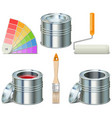 Paint Can and Brush Icons vector image