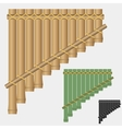 Pan flute bamboo wind musical instrument vector image