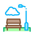 park with benches icon outline vector image