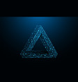penrose triangle form lines and particle vector image vector image