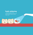 professional teeth whitening vector image