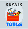 repair tools box icon creative graphic design logo vector image vector image