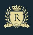 royal coat of arms heraldic royal emblem shield vector image vector image