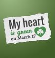 Saint Patricks day tag vector image