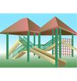 school playground vector image