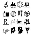 Science education icons set vector image