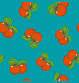 seamless pattern persimmon on azure background vector image vector image