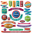 set retro vintage badges and labels 07 flat des vector image vector image