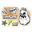 set stickers for halloween on a white vector image vector image