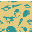 Shell seamless patter 5 vector image vector image