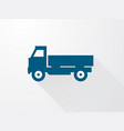 simple icons of the blue truck with long shadow vector image vector image